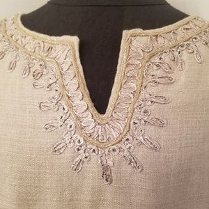 LOFT Dresses - LOFT Linen Sleeveless Shift Dress Size 8